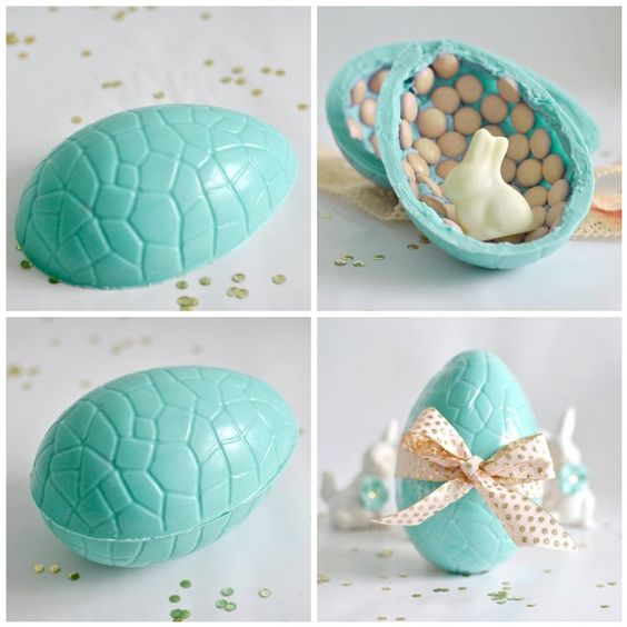Hand-made chocolate egg.  My favourite colour and chocolate combined.  Oh my!  Torie Jayne blog.