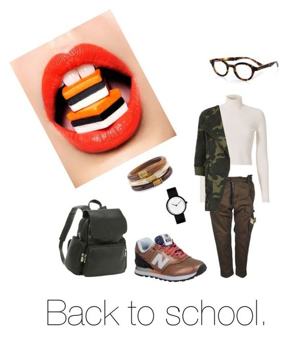 """""""back to school"""" by kiaragentile ❤ liked on Polyvore featuring Dsquared2, A.L.C., Parka London, New Balance, Le Donne, eyebobs and Chico's"""