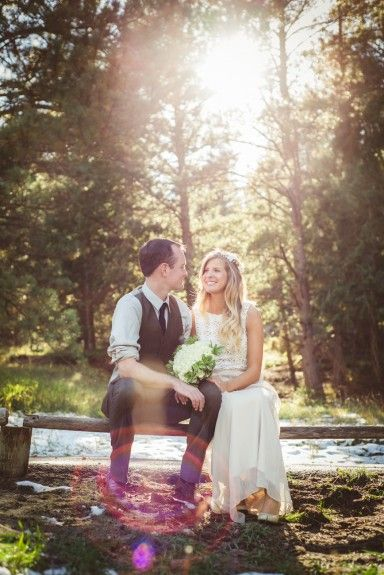 Bride and Groom at the Evergreen Lake House, a classic Colorado venue. Photography by Denver's creative photojournalistic wedding photographers - From the Hip Photo