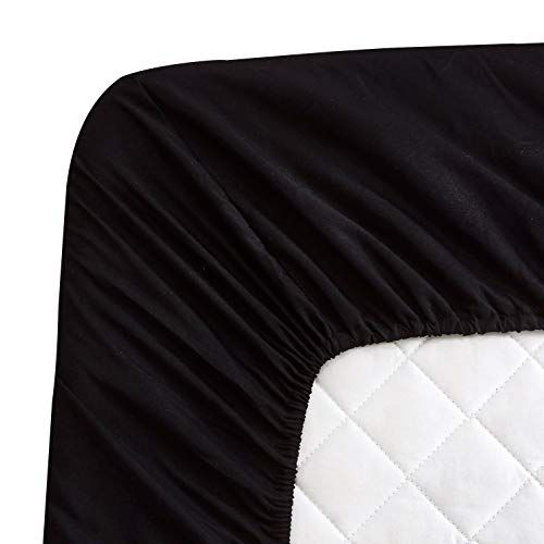 Ls Fitted Sheet Queen Brushed Microfiber 1800 Machine Washable Fade And Dust Mites Resistant Black Good