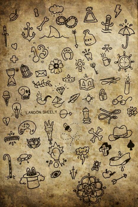 Ideas for tiny tattoos.