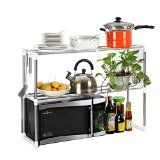 NALATI Micro-ondes étagère de cuisine Micro-ondes étagère de cuisine simple couche support de rangement