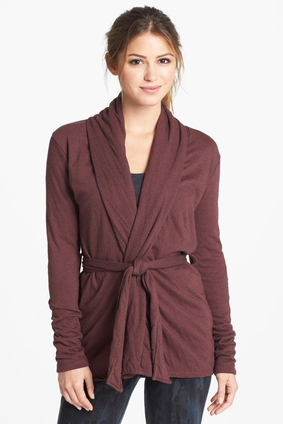 Omgirl 'Sage' Belted Cardigan. Great piece to throw on after a yoga session
