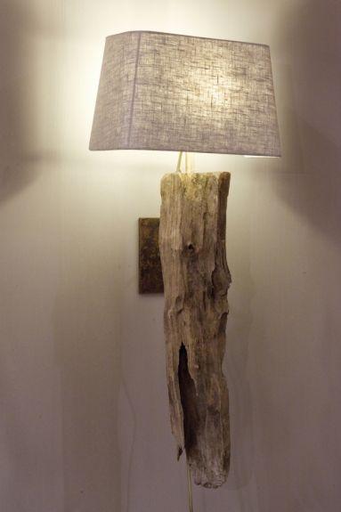 wandlamp rustiek hout | Originele wandlampen | Webshop Be-Uniq.nl | wandlamp hout smal