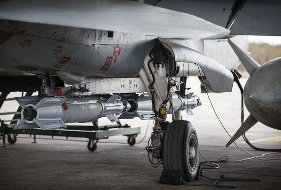 Op SHADER RAF Tornado GR4 with Paveway IV, RAF Akrotiri, Cyprus, Sept 2014.