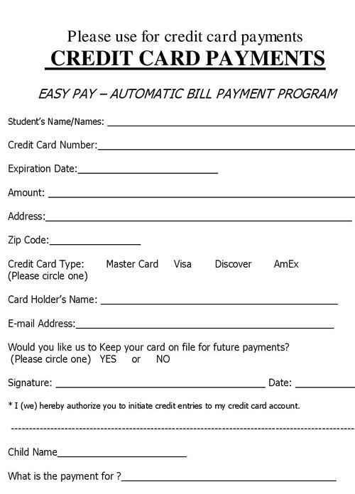 27 Credit Card Authorization Form Template Download Pdf