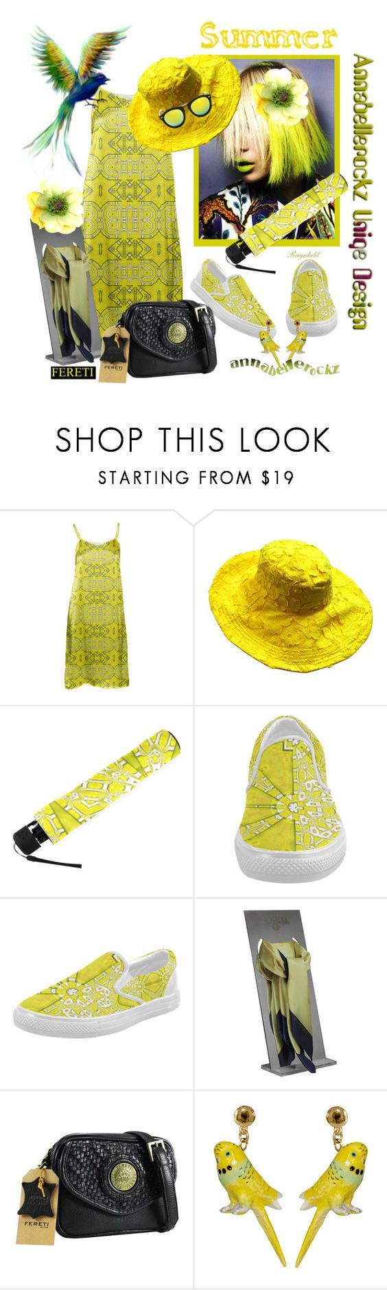 """Contest! Summerfun in Ragnhild says Post it!"" by ragnh-mjos ❤ liked on Polyvore featuring Nach Bijoux, outfit, annabellerockz and Fereti"