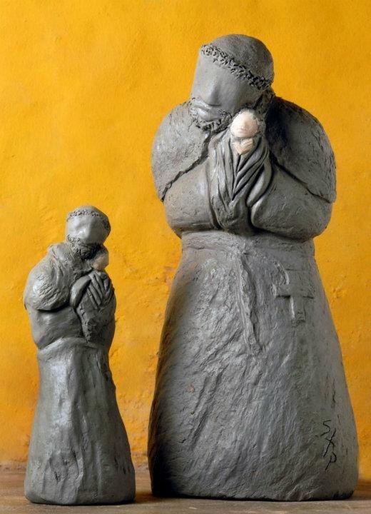 Susie Prunes - São Benedito I e II Escultura em Cerâmica