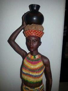 African-Zulu-Maiden-Statue-Black-Tribal-Goddess-Figurine-6418