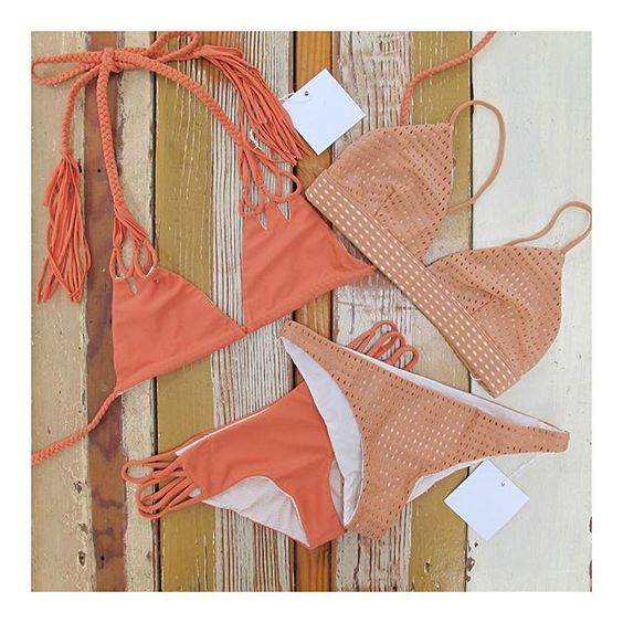 We can't get enough of these neutrals from Acacia Swimwear www.bikinibird.com