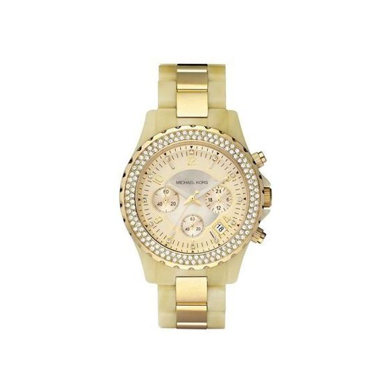 (10) Betsey Johnson Women's Gold-Tone Bracelet Watch 40mm BJ00048-97 |... via Polyvore