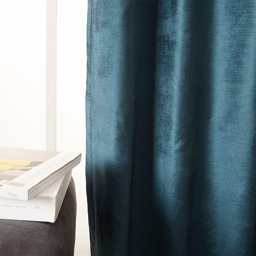 Er Velvet Curtain Regal Blue 48