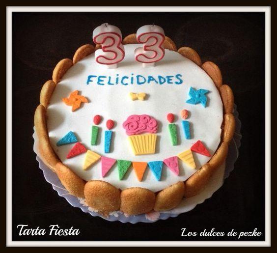 Tarta Fiesta Cumpleaños www.losdulcesdepezke.blogspot.com.es