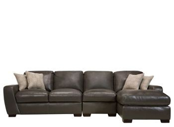 Carpenter 3 Pc Leather Sectional Sofa Sectional Sofas