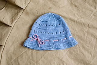 Blue Summer Hat by Ekaterina Pavlinchenko. Only $1.00 for the pattern:)