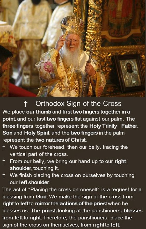 Greek and Antiochian Rites make the sign of the cross from right to left. However, Oriental Orthodox Churches, Coptic Orthodox Church of Alexandria,Syriac Orthodox Church of Antioch,Church of Armenia, East Syrian Rite, Ethiopian Orthodox Church go in reverse order on the last step of the sign of the cross, from left to right