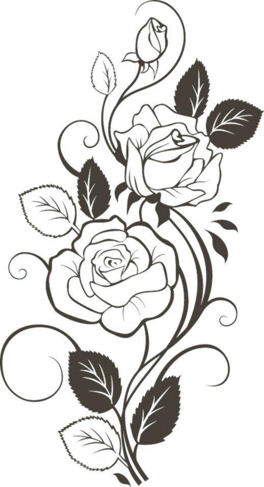 Oberschenkel Oder Beinseite Malvorlagen Blumenzeichnung Blumen Zeichnung Rosenzeichnungen