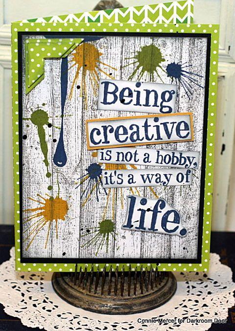 crafty goodies: Be Creative with Darkroom Door~