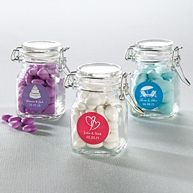 Favor apothecary jars - good for personalized M&Ms maybe? http://www.exclusivelyweddings.com/Weddings/Wedding-Favors/Wedding-Favor-Supplies/Boxes-and-Containers?viewall=true