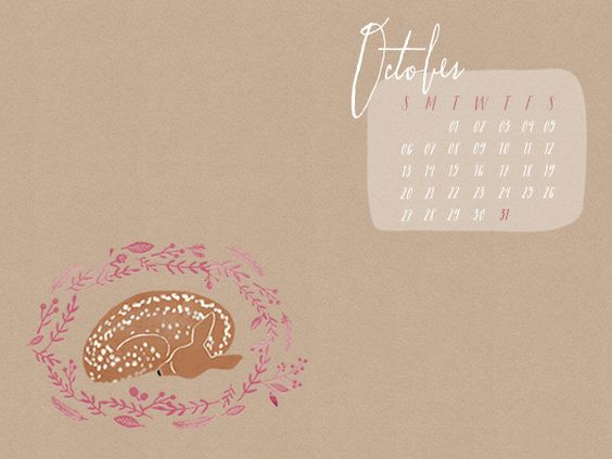 Adorable free desktop wallpapers w/ calendars for every month!
