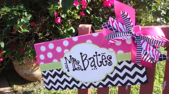 Name Sign on 8X15 Canvas on Etsy, $52.00