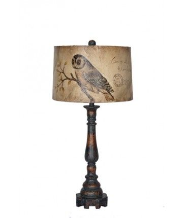 Guildmaster Hedwig and Clive Lamp  Height: 33.25 in / 84.455 cm  Width: 16 in / 40.64 cm  Depth: 16 in / 40.64 cm