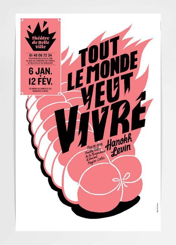 © Pierre Jeanneu - Affiche pour le théâtre de Belleville, Paris