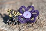 Purple embellishments