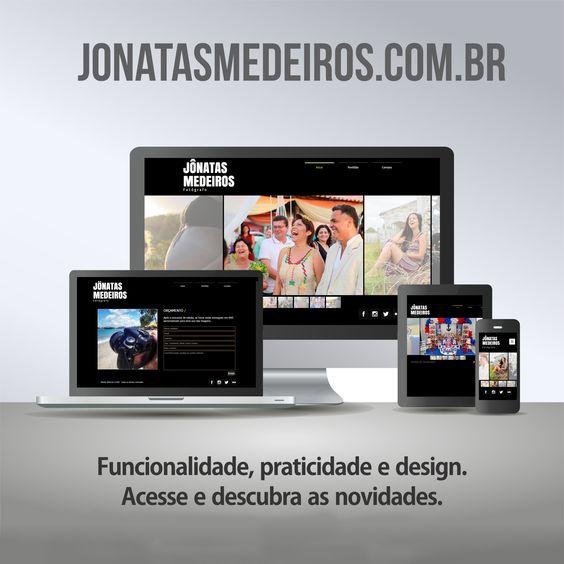 Imagem de divulgação do site responsivo do fotógrafo Jônatas Medeiros.
