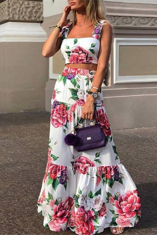 Fashion Sexy Women Printed Colour Braces High Waist Dress – maxi dress casual outfit,vacation maxi dress,womens long maxi dress,maxi dress summer casual,floral maxi dress #maxidress #longmaxidresssummer #fashion #maxidresscasualoutfit #style #ebuychic