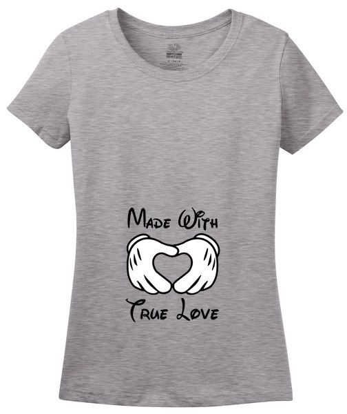 Made With True Love Pregnancy Announcement TShirt Disney Themed – Baby Announcement T Shirt