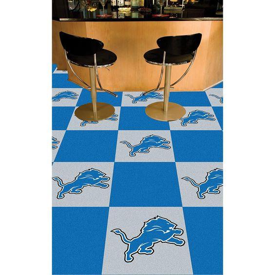Detroit Lions NFL Team Logo Carpet Tiles | Carpet Tiles, Detroit ...