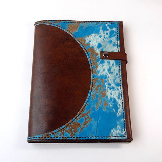 Leather & Calf Hide Refillable Notebook Journal Cover - Fits ...