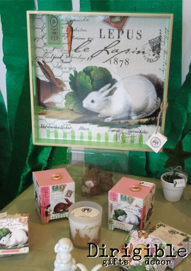 Our Lapin range includes, trays, candles, soap and a useful notebook in the cheery & elegant rabbit print.