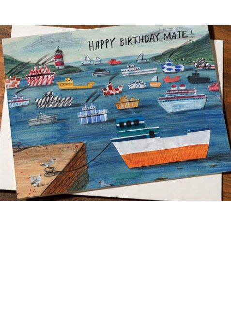 Happy Birthday Mate Card designed by Lizzy Stewart for Red Cap Cards