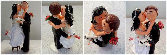 Carol'art: Topo de bolo - Noivinhos Luciana e Carlo