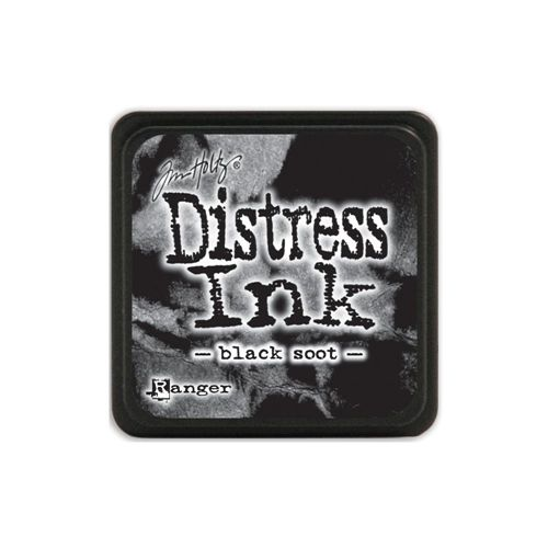 Tim Holtz Distress Mini Ink Pad BLACK SOOT Ranger