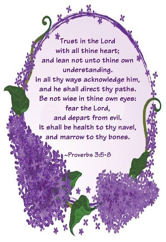 Proverbs 3:5-8 KJV: