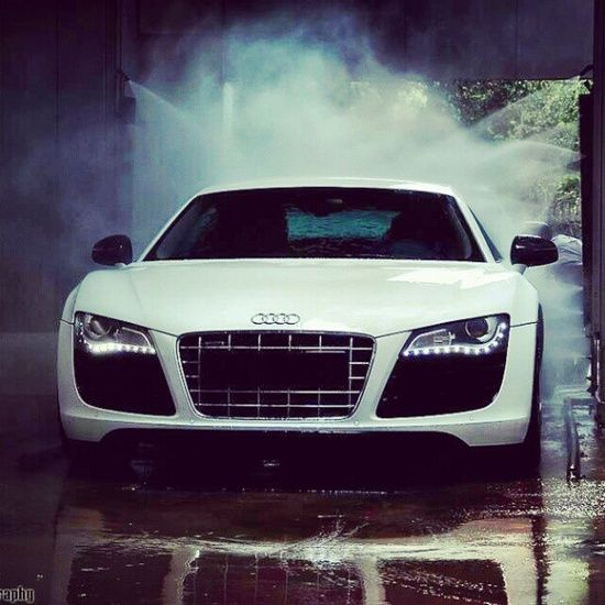 """At the car wash baby!"" Audi R8"