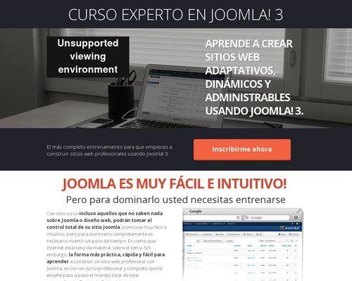 Curso Experto En Joomla 3 Mdash Cursos De Diseño Web Joomla Wordpress Drupal Html Css Php Seo En 2020 Diseño Web Cursos De Diseño Cursillo