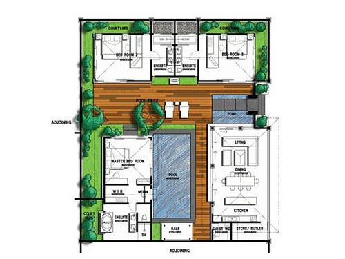 Balinese Villa Floor Plan Google Search Floor Plans Balinese Villa Architecture Design