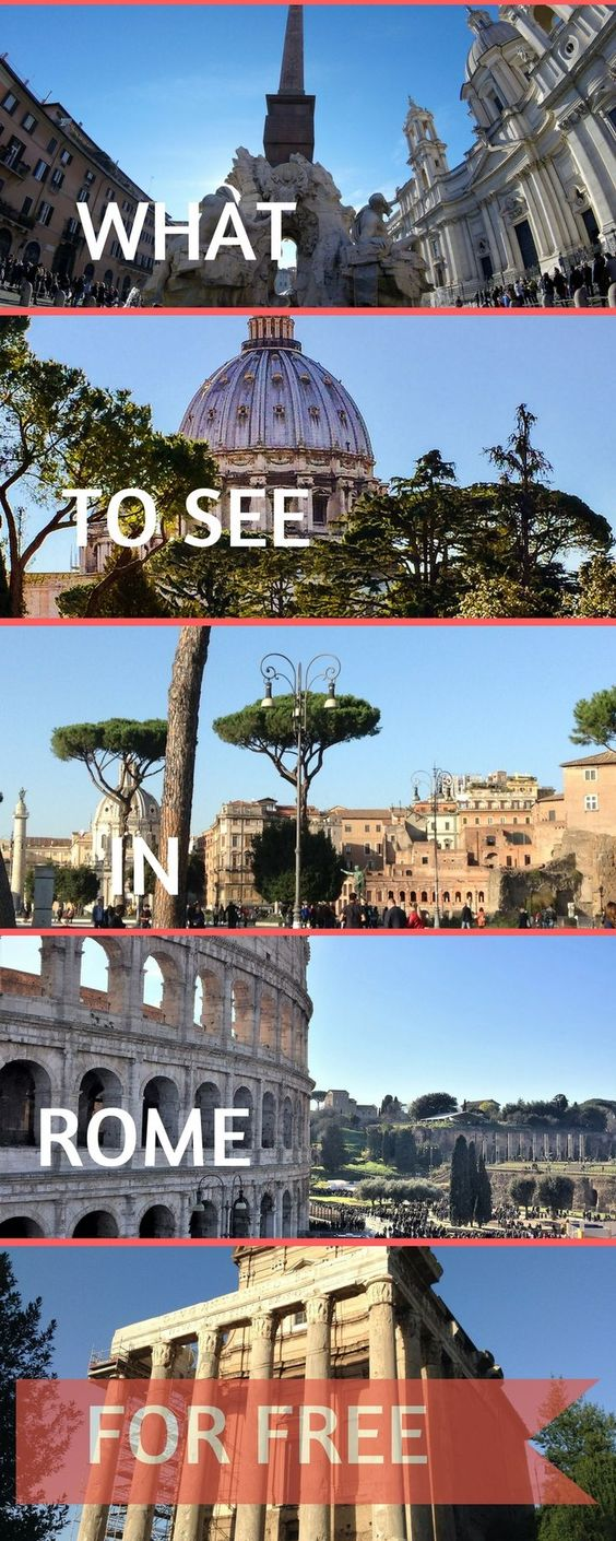 What are the best things to see in Rome for free? Find our 15 amazing things you can do in Rome for free: monuments, landmarks, museums and parks - what you need to know to visit Rome on a budget with kids, friends or family