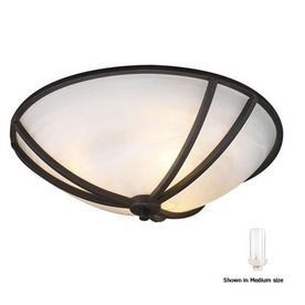 PLC Lighting 11-in W Oil-Rubbed Bronze Ceiling Flush Mount $99 Lowes