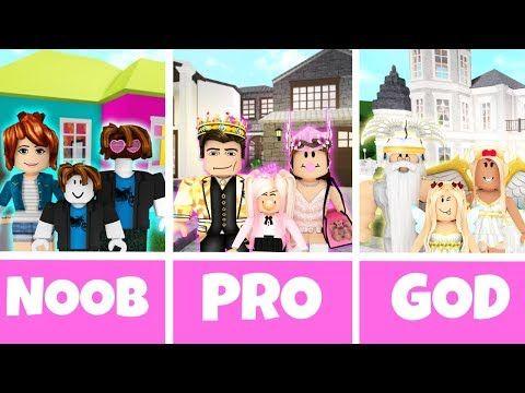 Roblox Noob Vs Pro Vs God Family House In Bloxburg Youtube In