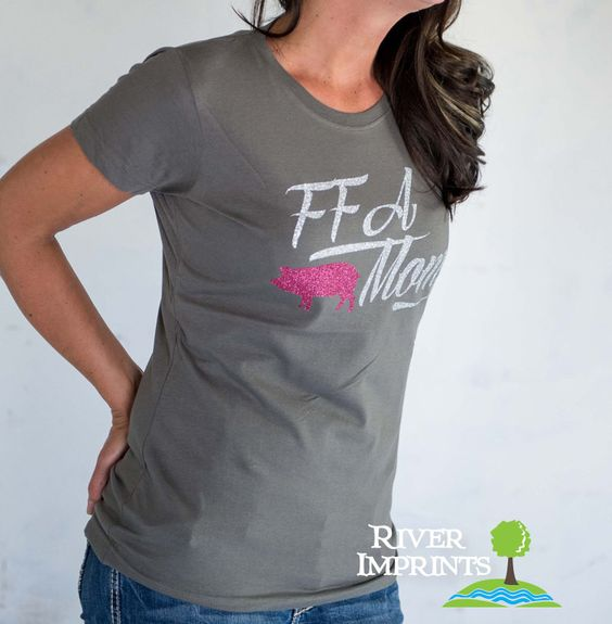 FFA MOM T-shirt, sparkly show animal glitter shirt - choose from fitted or unisex fit