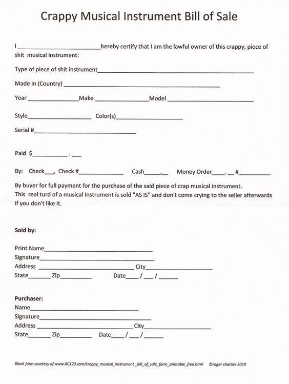 printable sample bill of sale pdf form real estate forms