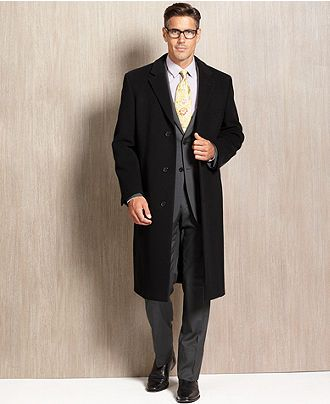 DKNY Coat Beacon Cashmere Blend Overcoat Slim Fit - Mens - Macy's