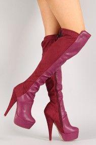 Muneca Round Toe Stiletto Thigh High Boot                       in black