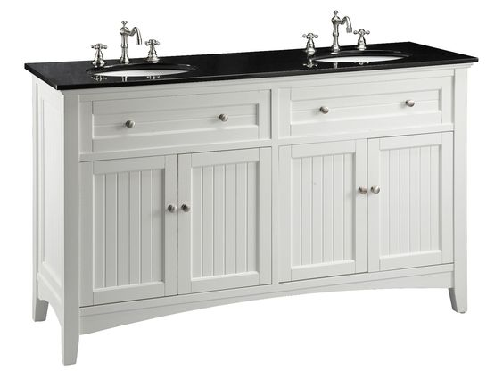 white double sink bathroom adelina  inch antique white double sink bathroom vanity black galaxy granite counter top white under mount porcelain sinks  functional center drawers