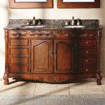 "Silkroad Exclusive Blair 60"" Double Bathroom Vanity Set"
